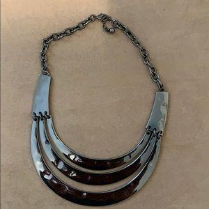 Gun metal color necklace. Perfect condition